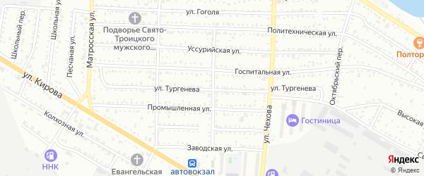 Безымянный переулок на карте Белогорска с номерами домов