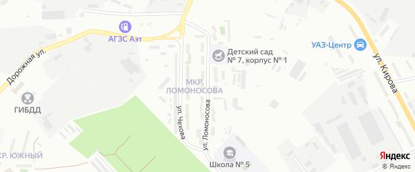 Улица Ломоносова на карте Белогорска с номерами домов