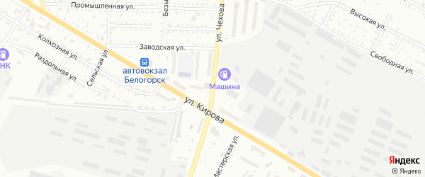 Улица Чехова на карте Белогорска с номерами домов