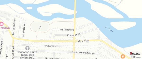 Улица Толстого на карте Белогорска с номерами домов
