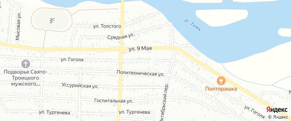 Улица Гоголя на карте Белогорска с номерами домов