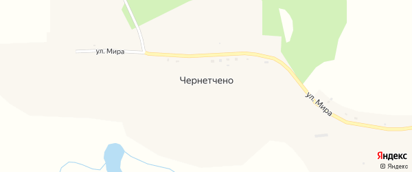 Улица Мира на карте села Чернетчено с номерами домов