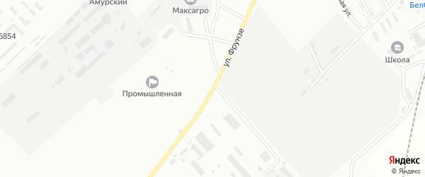 Улица Фрунзе на карте Белогорска с номерами домов