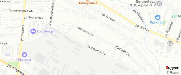 Веселый переулок на карте Белогорска с номерами домов