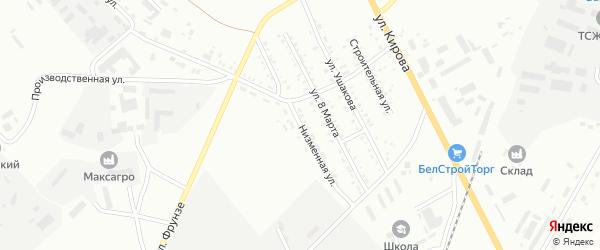 Низменная улица на карте Белогорска с номерами домов