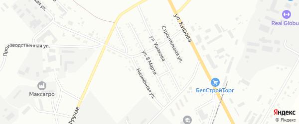 Улица 8 Марта на карте Белогорска с номерами домов