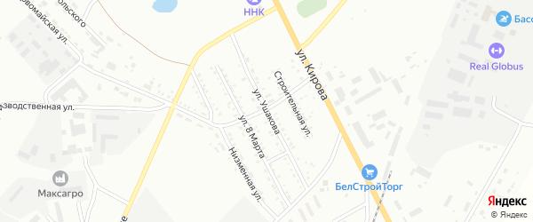Улица Ушакова на карте Белогорска с номерами домов