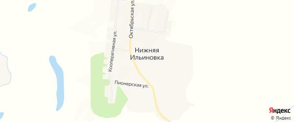 Карта села Нижней Ильиновки в Амурской области с улицами и номерами домов