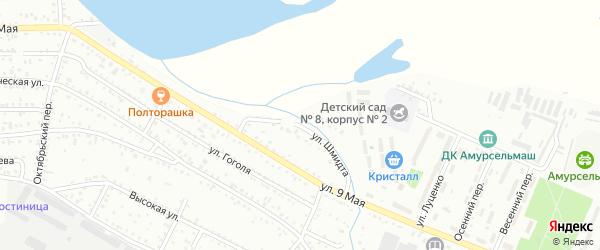 Улица Лейтенанта Шмидта на карте Белогорска с номерами домов