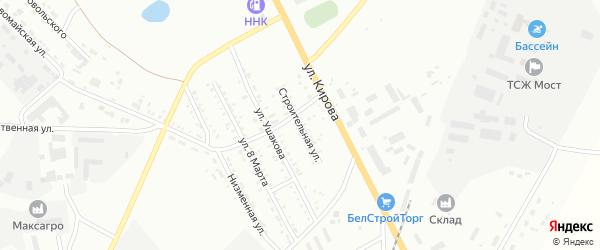 Строительная улица на карте Белогорска с номерами домов
