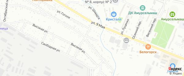 Нефтяной переулок на карте Белогорска с номерами домов
