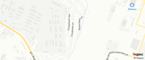 Плодовая улица на карте Белогорска с номерами домов
