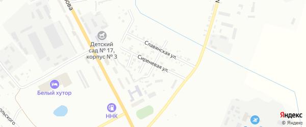 Сиреневая улица на карте Белогорска с номерами домов