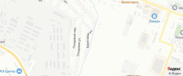 Береговая улица на карте Белогорска с номерами домов