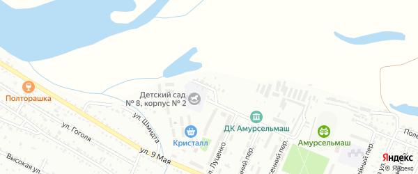 Солнечная улица на карте Белогорска с номерами домов