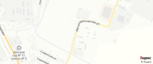 Металлургическая улица на карте Белогорска с номерами домов