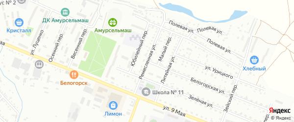 Ремесленная улица на карте Белогорска с номерами домов