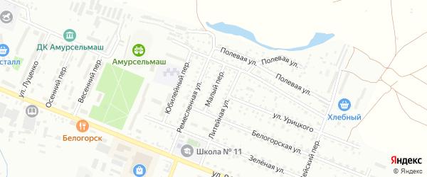 Малый переулок на карте Белогорска с номерами домов