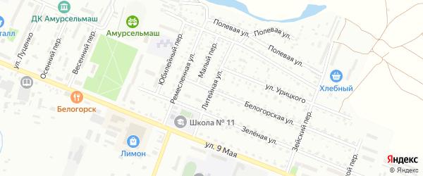 Литейная улица на карте Белогорска с номерами домов