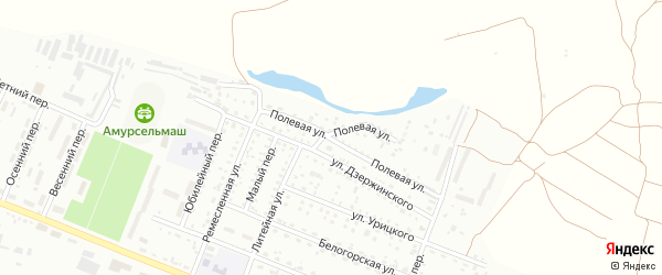 Полевая улица на карте Белогорска с номерами домов