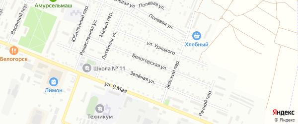 Белогорская улица на карте Белогорска с номерами домов