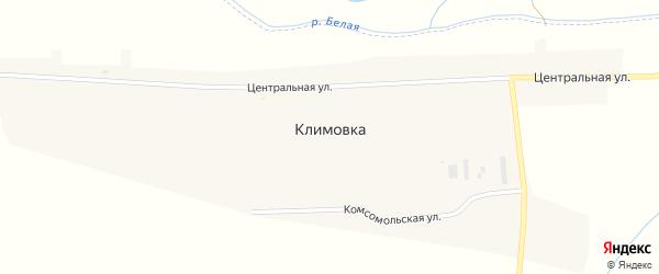 Центральная улица на карте села Климовки с номерами домов