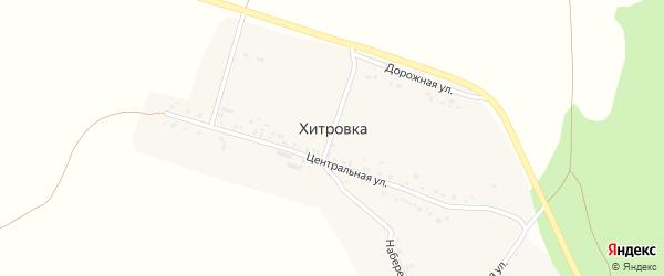Центральная улица на карте села Хитровки с номерами домов