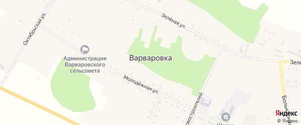 Больничная улица на карте села Варваровки с номерами домов