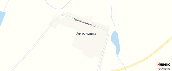Центральная улица на карте села Антоновки с номерами домов