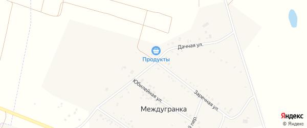 Дачная улица на карте села Междугранки с номерами домов