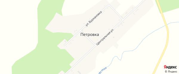 Центральная улица на карте села Петровки с номерами домов