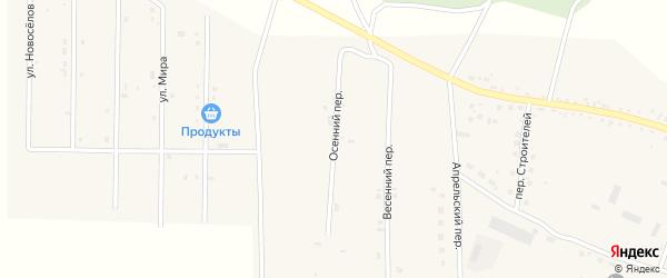 Осенний переулок на карте села Васильевки с номерами домов