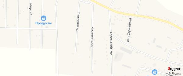Весенний переулок на карте села Васильевки с номерами домов