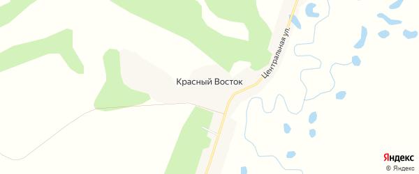 Карта села Красного Востока в Амурской области с улицами и номерами домов