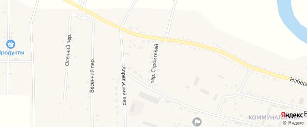 Переулок Строителей на карте села Васильевки с номерами домов