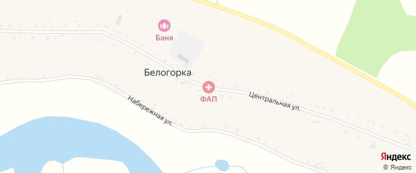 Центральная улица на карте села Белогорки с номерами домов