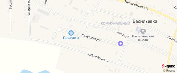 Советская улица на карте села Васильевки с номерами домов