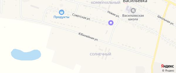 Юбилейная улица на карте села Васильевки с номерами домов
