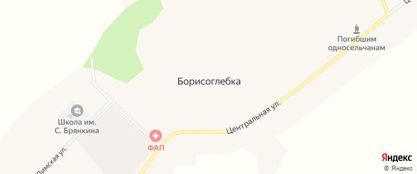 Партизанская улица на карте села Борисоглебки с номерами домов