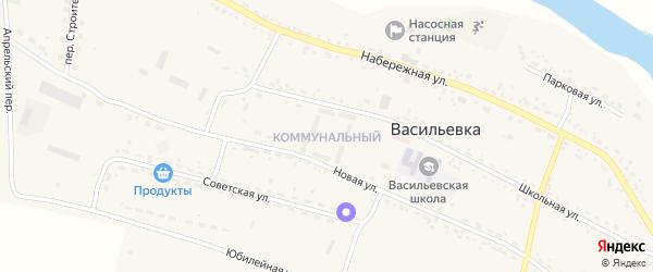 Коммунальный микрорайон на карте села Васильевки с номерами домов