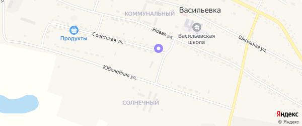 Парниковая улица на карте села Васильевки с номерами домов
