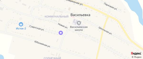 Новая улица на карте села Васильевки с номерами домов