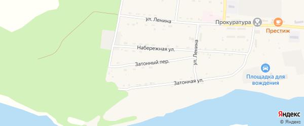 Затонный переулок на карте села Поярково с номерами домов