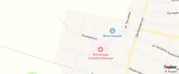 Полевая улица на карте села Поярково с номерами домов