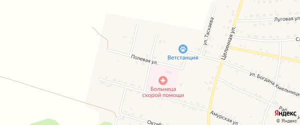 Западная улица на карте села Поярково с номерами домов