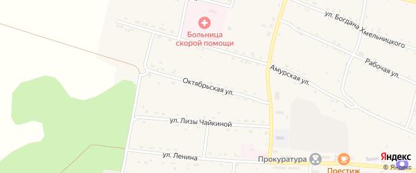Октябрьская улица на карте села Поярково с номерами домов