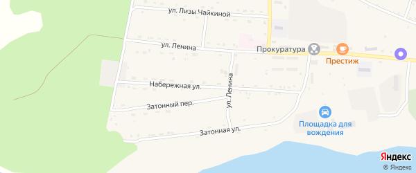 Набережная улица на карте села Поярково с номерами домов