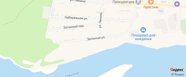 Затонная улица на карте села Поярково с номерами домов