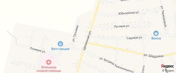 Целинная улица на карте села Поярково с номерами домов