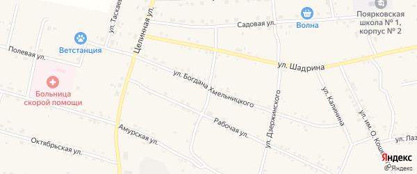 Амурский переулок на карте села Поярково с номерами домов